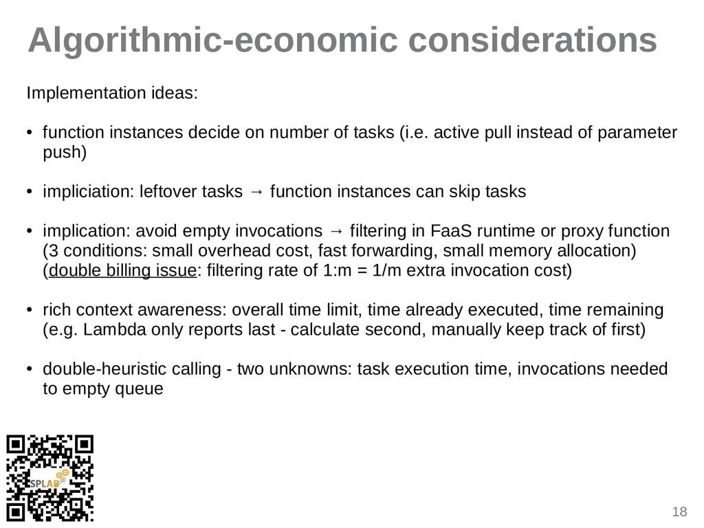 18 Algorithmic-economic considerations Implemen...