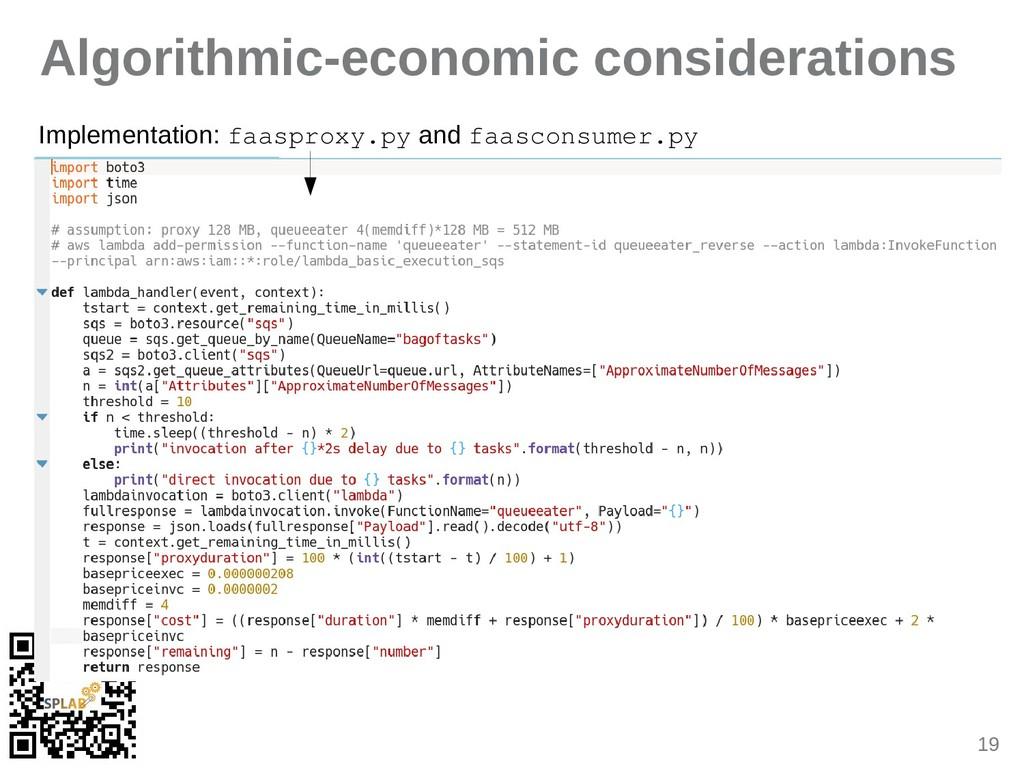 19 Algorithmic-economic considerations Implemen...