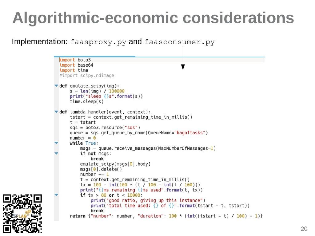 20 Algorithmic-economic considerations Implemen...