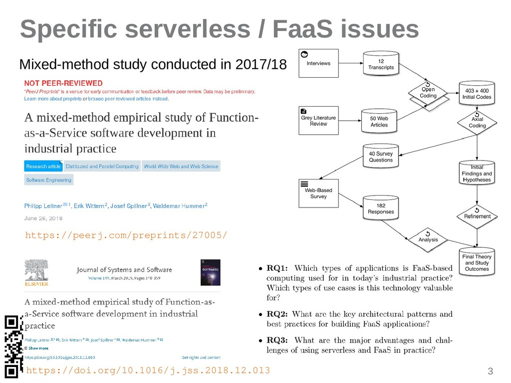 3 Specific serverless / FaaS issues Mixed-metho...