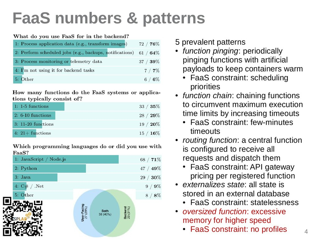 4 FaaS numbers & patterns 5 prevalent patterns ...