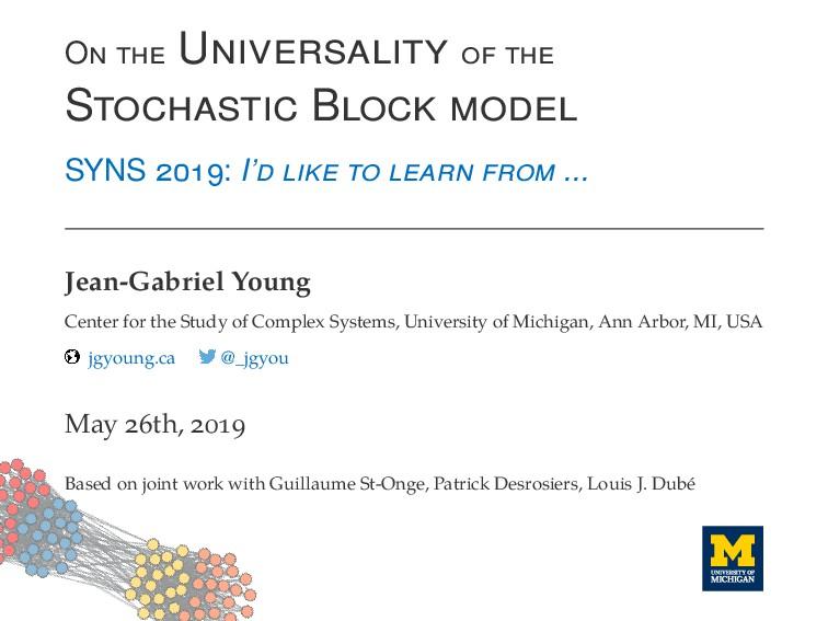 O U S B SYNS : I' ... Jean-Gabriel Young Center...