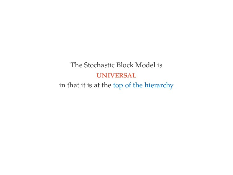 The Stochastic Block Model is in that it is at ...