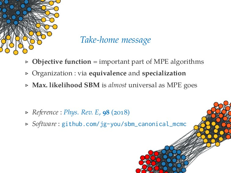 Take-home message Objective function = importan...