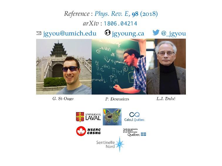 Reference : Phys. Rev. E, ( ) arXiv : 1806.0421...