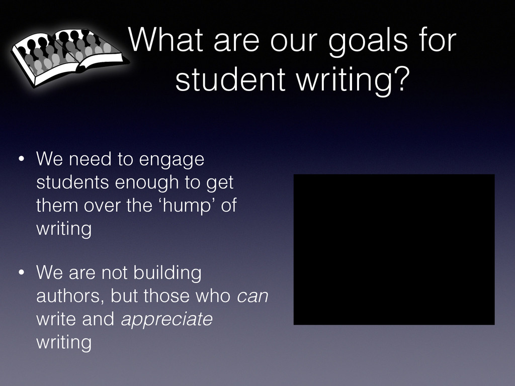What are our goals for student writing? • We ne...