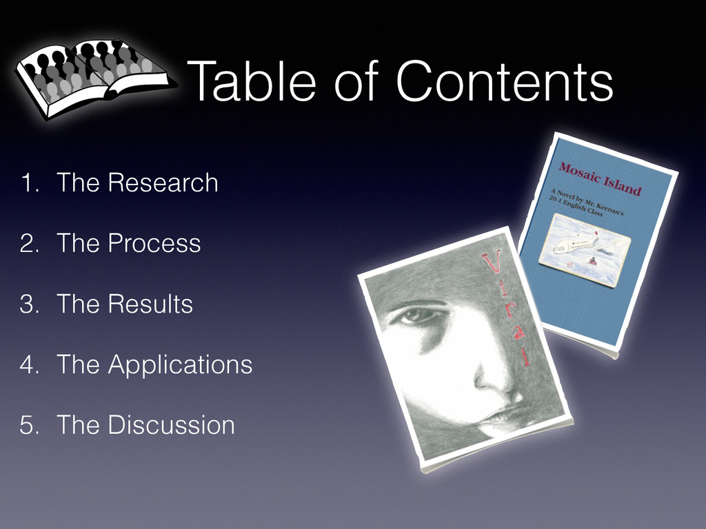 Table of Contents 1. The Research 2. The Proces...