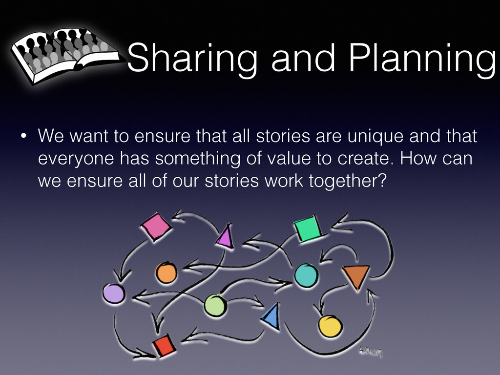 Sharing and Planning • We want to ensure that a...