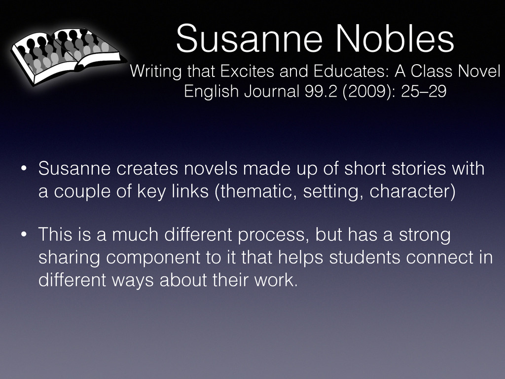 Susanne Nobles Writing that Excites and Educate...