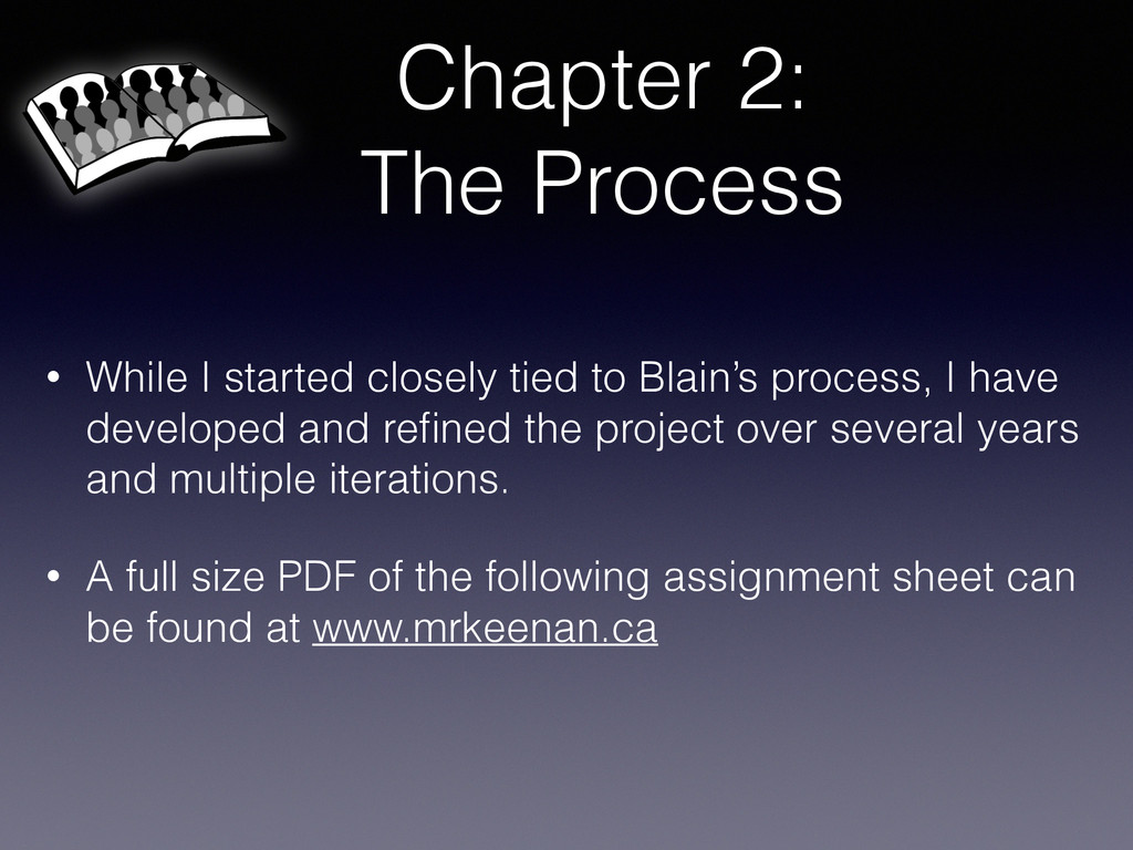 Chapter 2: The Process • While I started closel...
