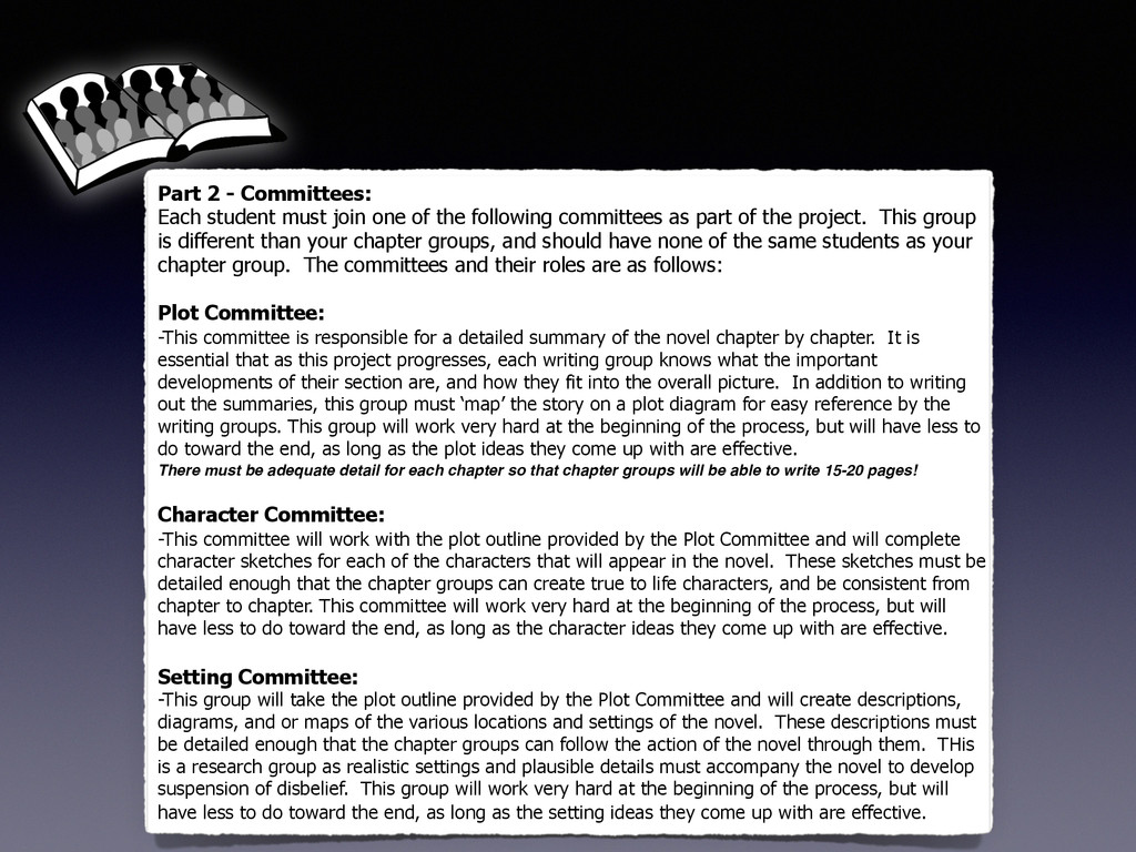 Part 2 - Committees: Each student must join one...