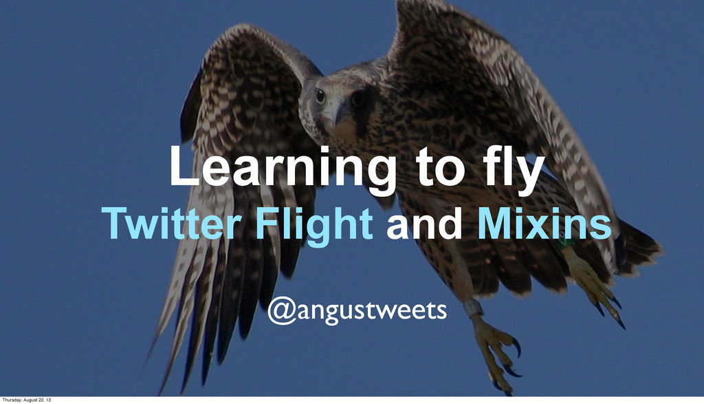 Learning to fly Twitter Flight and Mixins @angu...