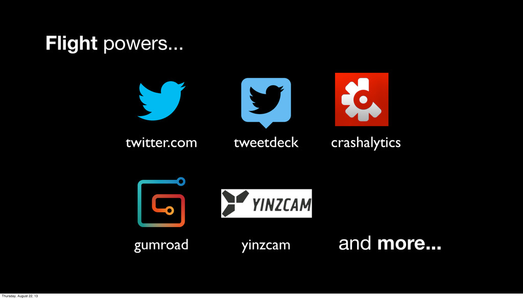 Flight powers... twitter.com tweetdeck gumroad ...