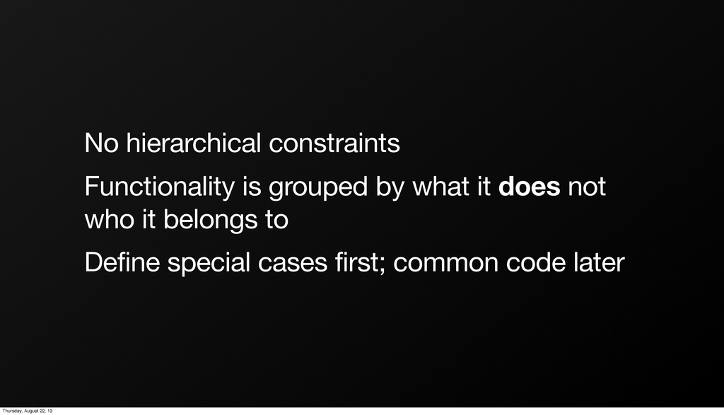 No hierarchical constraints Functionality is gr...