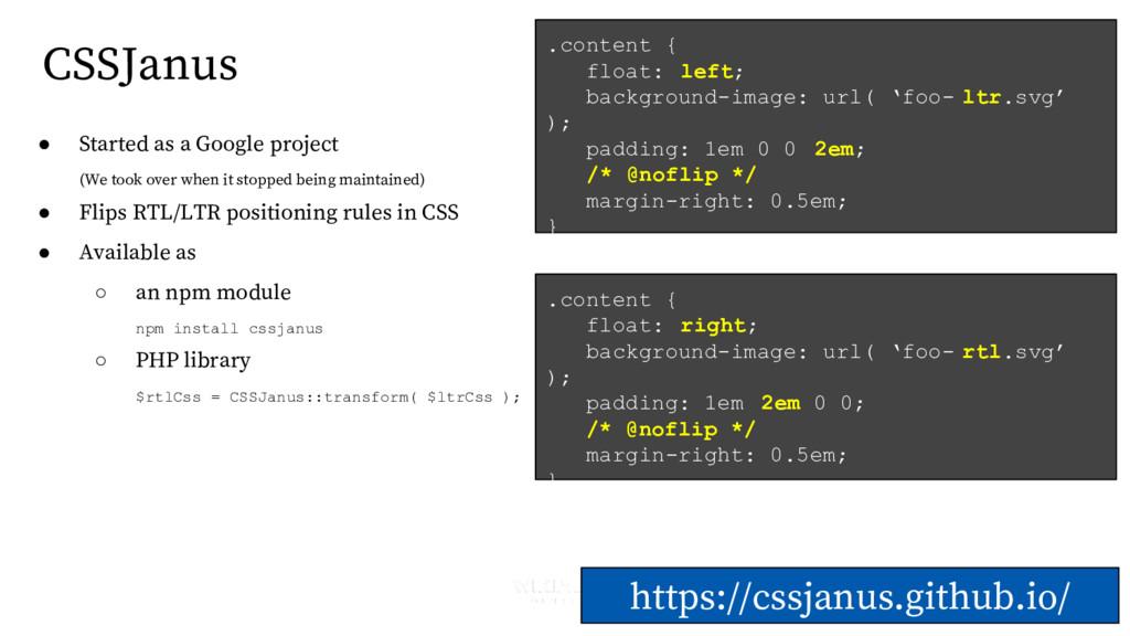 CSSJanus https://cssjanus.github.io/ .content {...