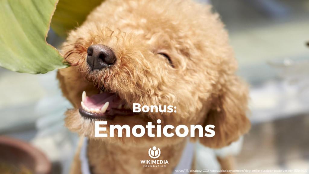 Bonus: Emoticons harvey117, pixabay; CC0 https:...