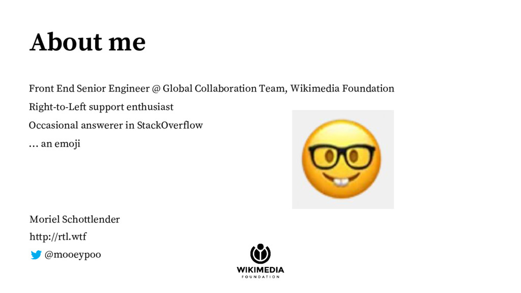About me Front End Senior Engineer @ Global Col...