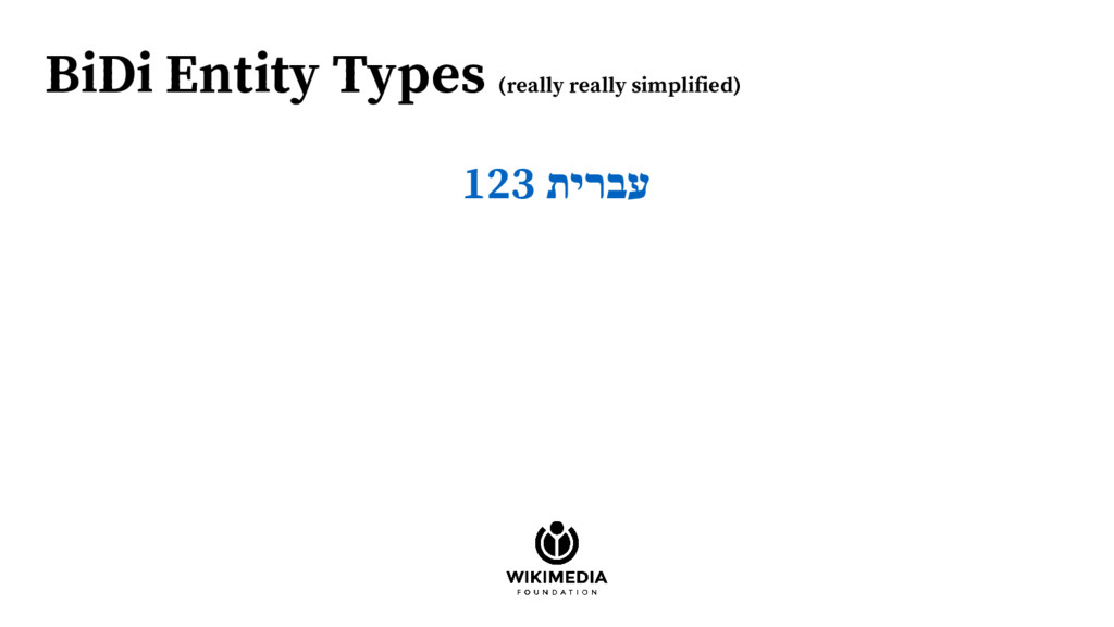 BiDi Entity Types (really really simplified) 12...