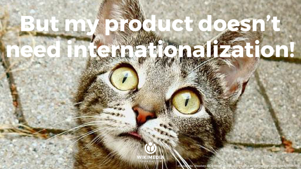 But my product doesn't need internationalizatio...
