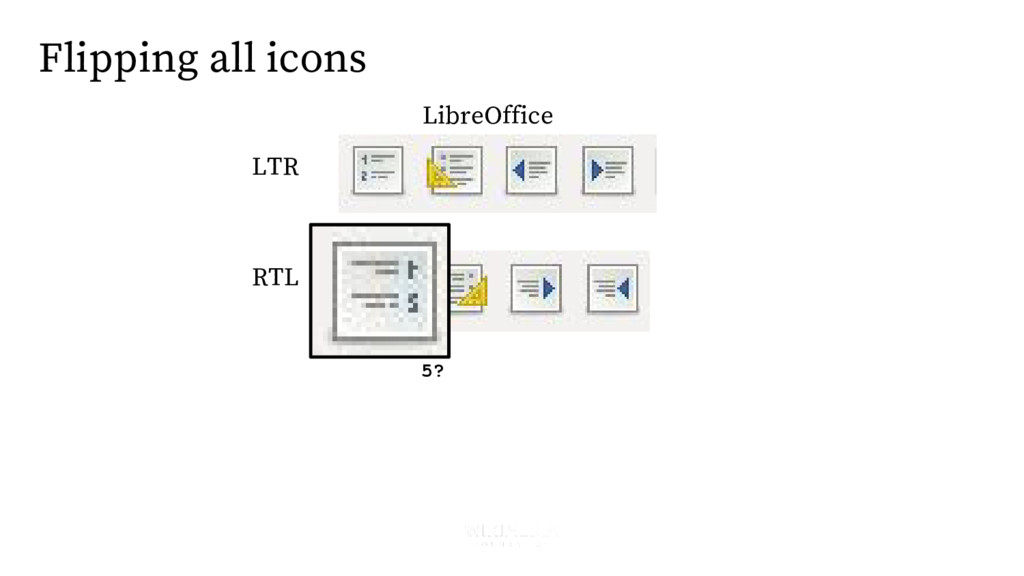 LTR RTL Flipping all icons 5? LibreOffice