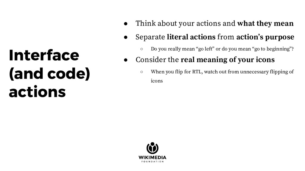 ● Think about your actions and what they mean ●...