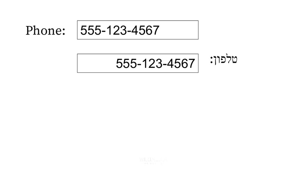 Phone: :ןופלט 555-123-4567 555-123-4567