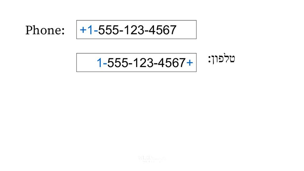 Phone: :ןופלט +1-555-123-4567 1-555-123-4567+