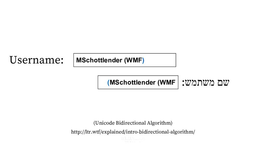 Username: :שמתשמ םש (MSchottlender (WMF MSchott...