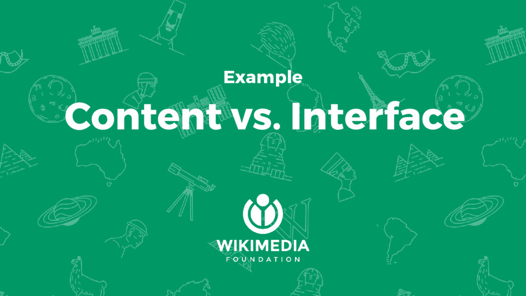 Example Content vs. Interface