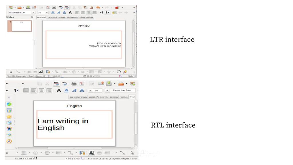 LTR interface RTL interface
