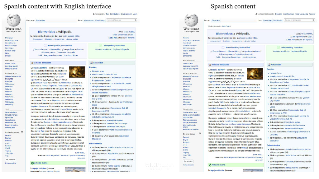 Spanish content Spanish content with English in...
