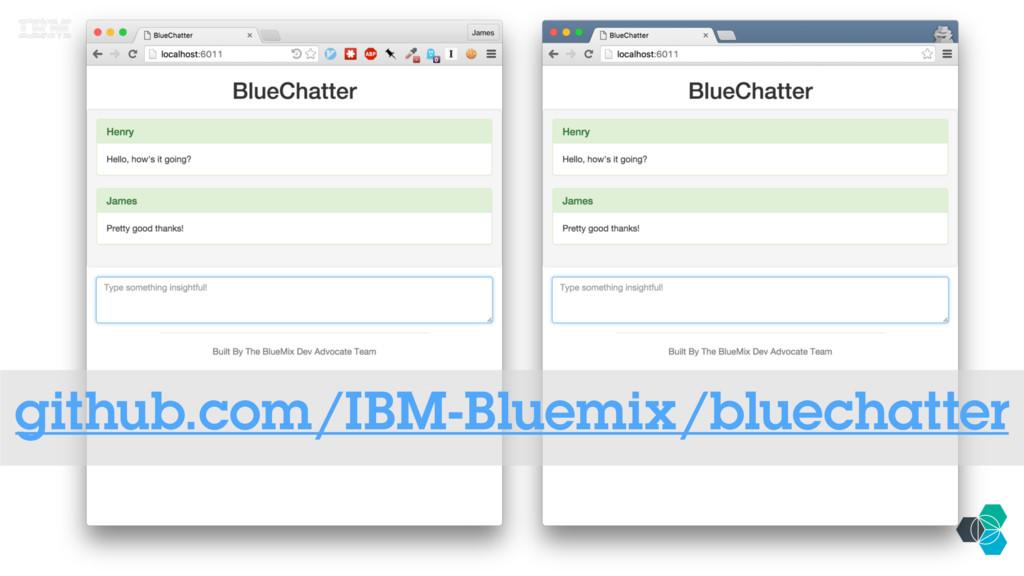 IBM BluemixTM www.bluemix.net github.com/IBM-Bl...