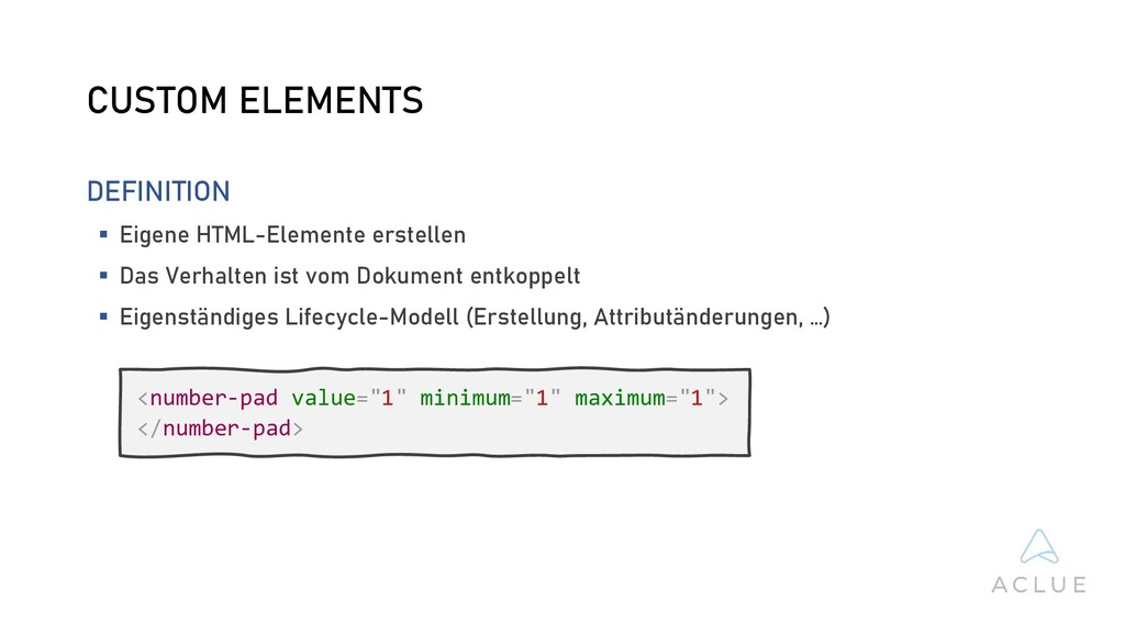 CUSTOM ELEMENTS DEFINITION  Eigene HTML-Elemen...