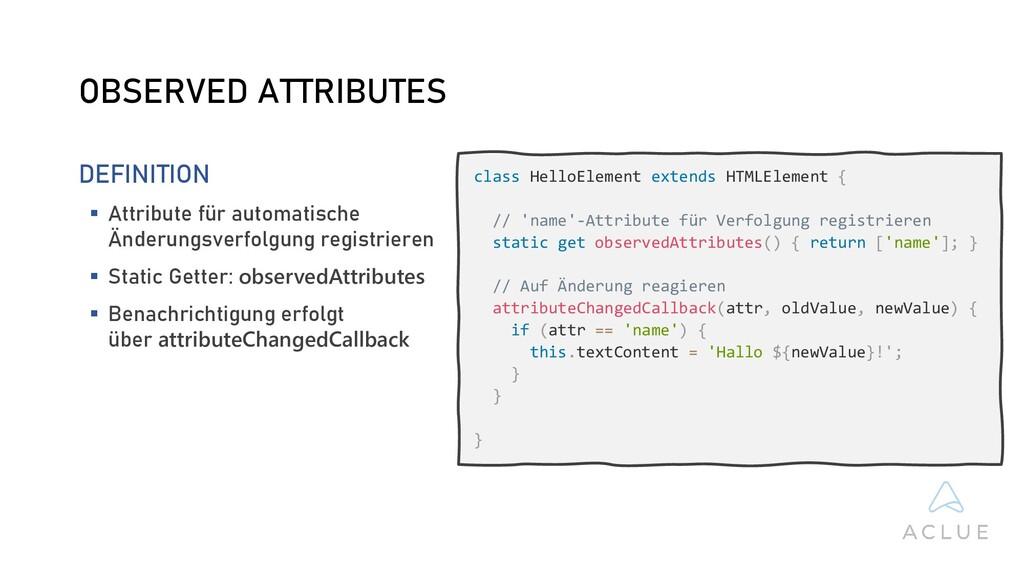 class HelloElement extends HTMLElement { // 'na...