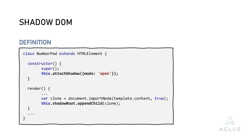 class NumberPad extends HTMLElement { construct...