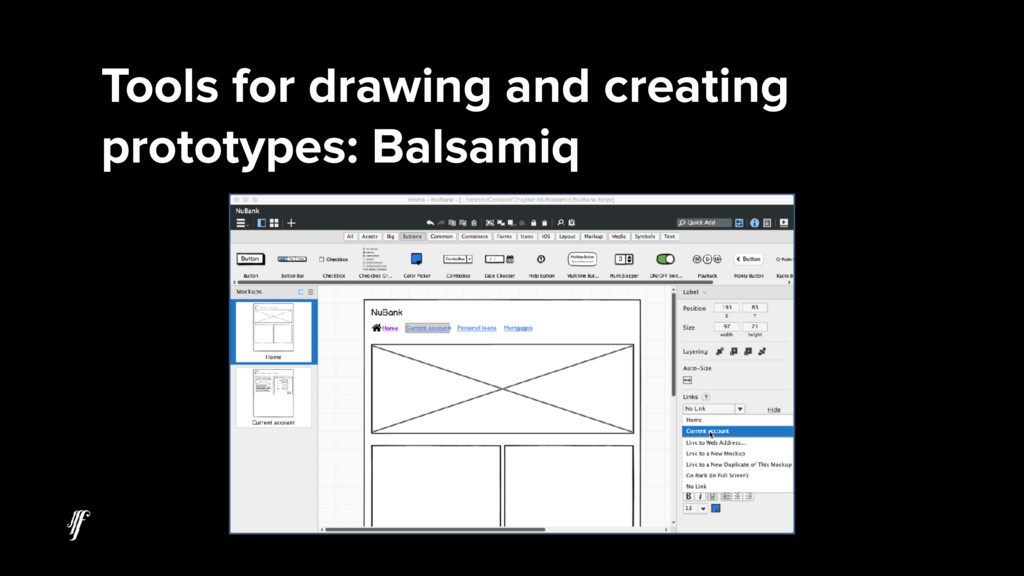 Tools for drawing and creating prototypes: Bals...