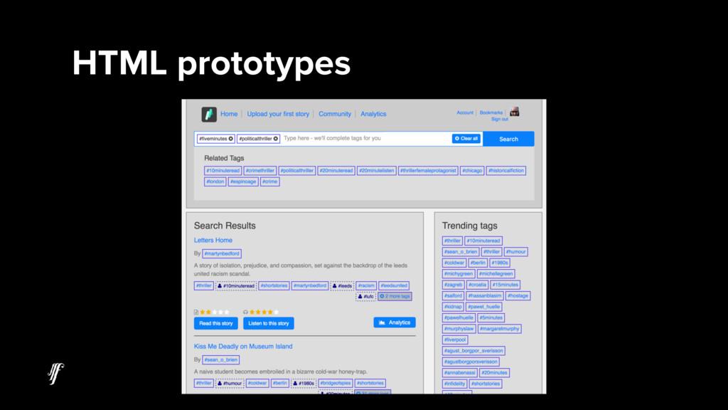 HTML prototypes