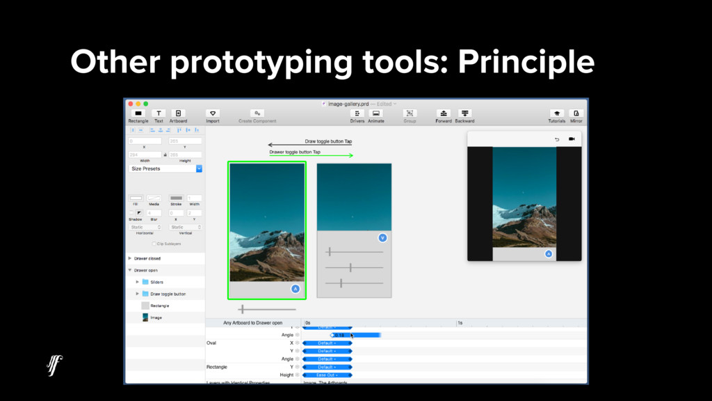 Other prototyping tools: Principle