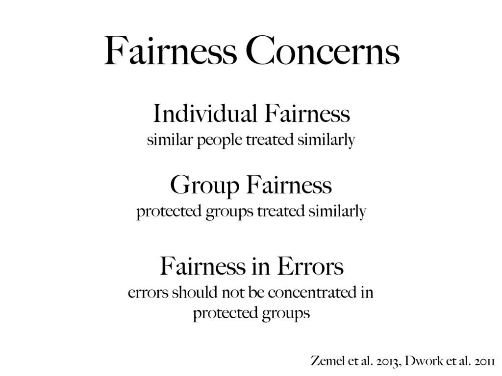 Individual Fairness similar people treated simi...
