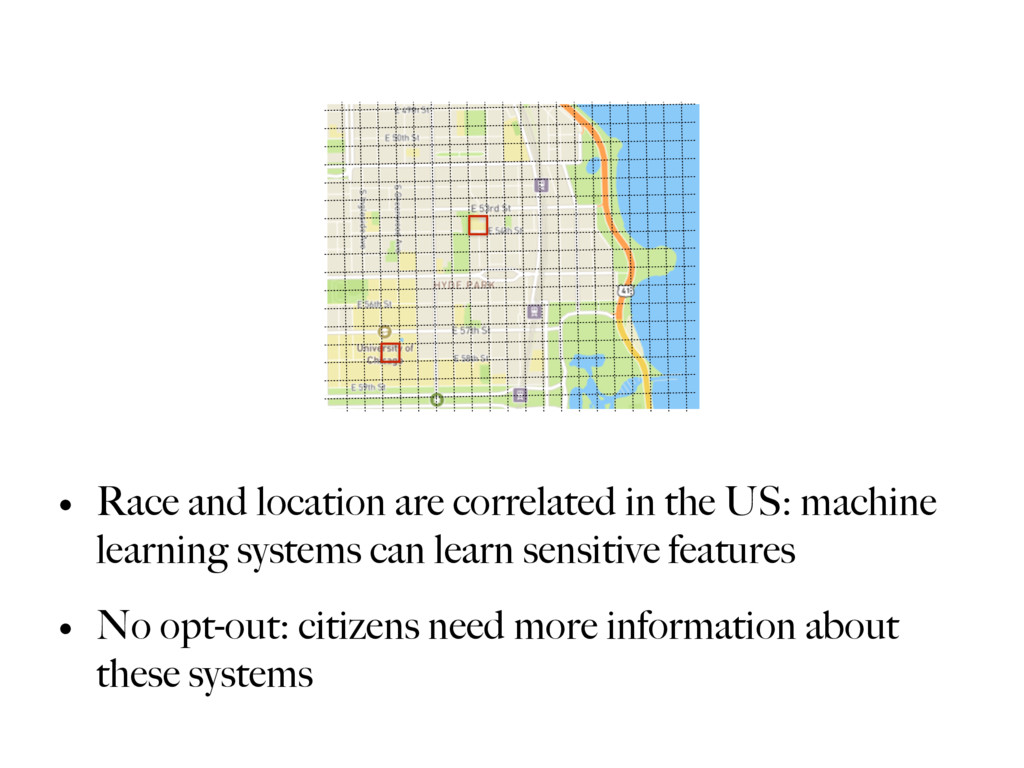 • Race and location are correlated in the US: m...