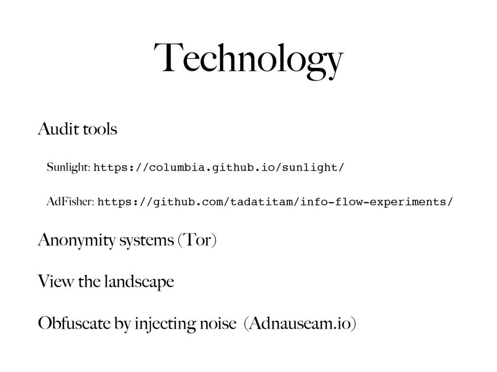 Audit tools Sunlight: https://columbia.github.i...
