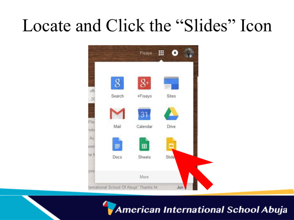 "Locate and Click the ""Slides"" Icon"