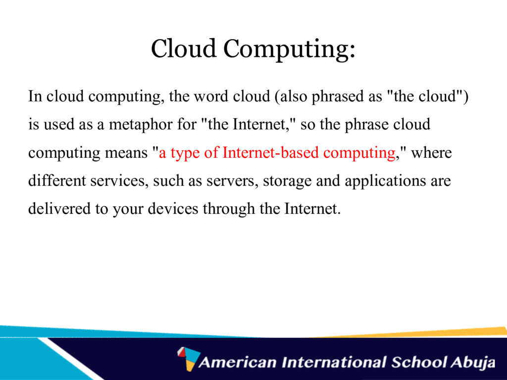 Cloud Computing: In cloud computing, the word c...