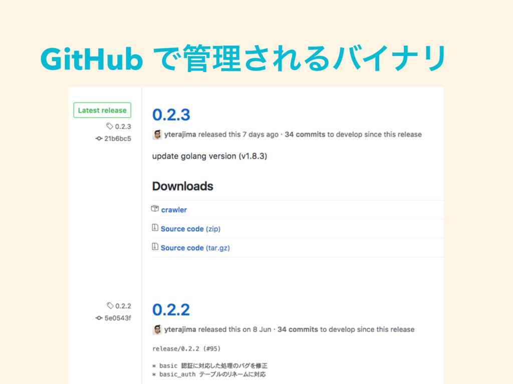 GitHub Ͱཧ͞ΕΔόΠφϦ