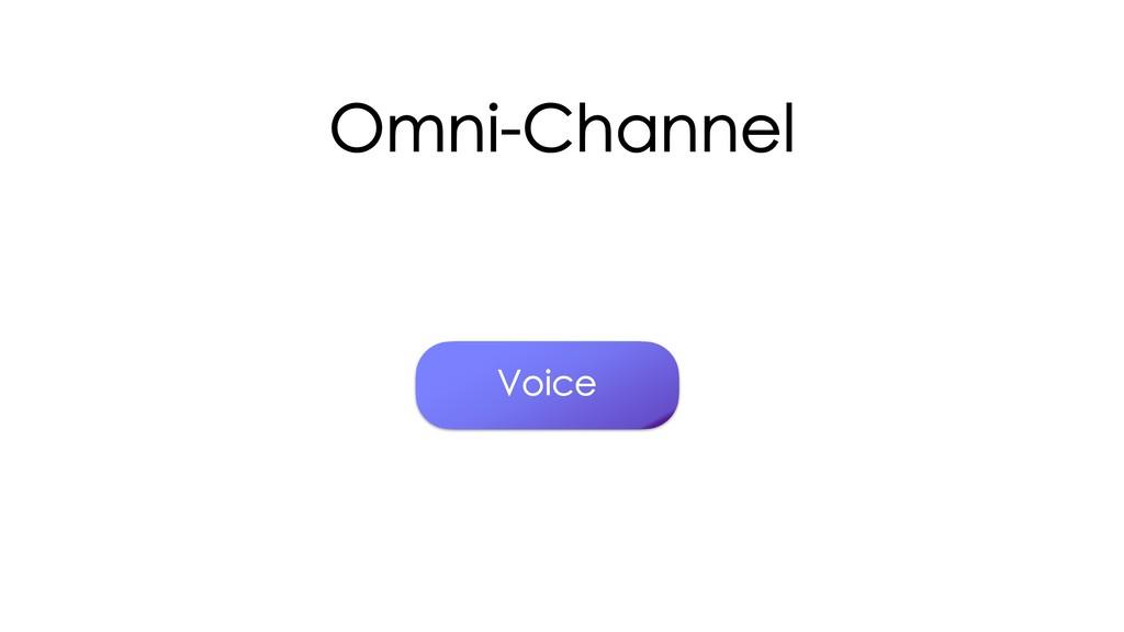 Omni-Channel Voice