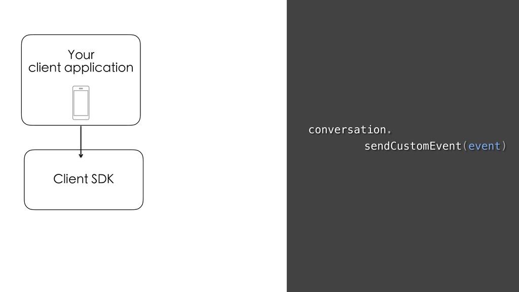 conversation. sendCustomEvent(event) Your clien...