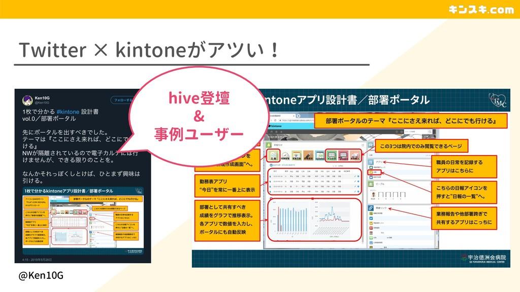 Twitter × kintoneがアツい! @Ken10G hive登壇 & 事例ユーザー