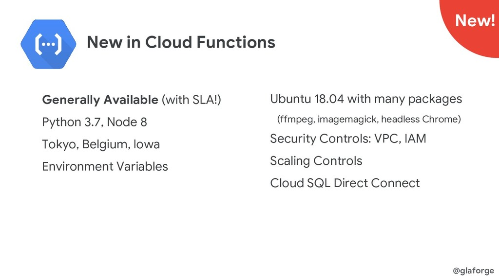 @glaforge New in Cloud Functions Generally Avai...