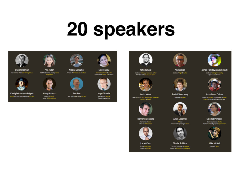 20 speakers