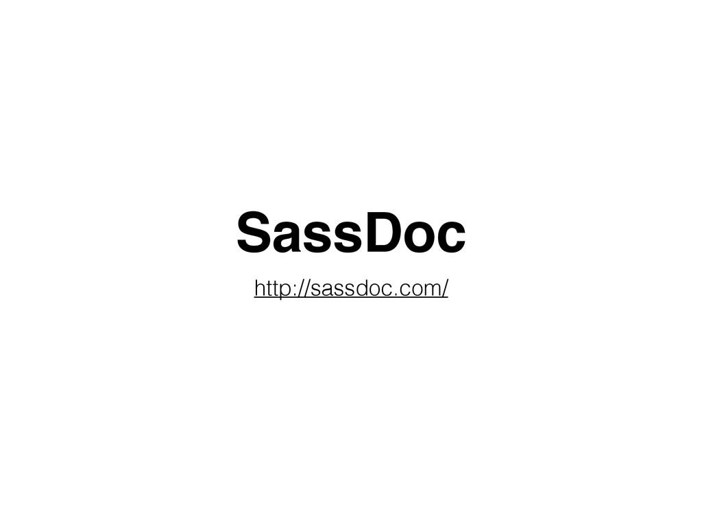 SassDoc http://sassdoc.com/